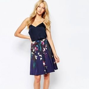 Ted Baker Quirina Floral Pleated Full Skirt 0